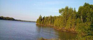 Bord de lac au Québec