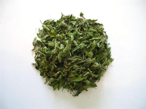 Tisane en vrac de feuilles de menthe poivrée