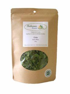 Tisane d'ortie du Québec emballage compostable
